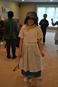 And Maddie and Jake had Pioneer Day last week, too. Costumes galore!