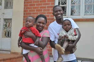 Wilfred, Vena, and their two boys:  baby Joshua and almost-three Graham. They left for the States the same day we went to Jinja. We'll miss them here but will be able to re-connect with them in Chicago in just a few weeks.