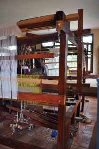 UAPO (Akola Project) is branching out into woven bags now. This is a picture of Martin, UAPO's master weaver. Not only is he an expert weaver, he built all of UAPO's looms!