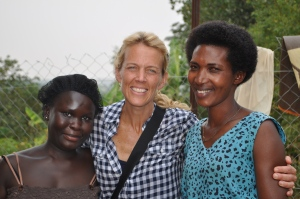 Christy with Susanne and Aunt Josephine, the two ladies who selflessly care for these little ones day in and day out.