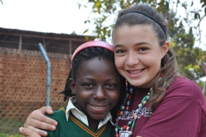 Em with Rita, one of her friends from the orphanage