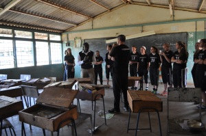We toured the Kirigiti Girls Rehabilitation School before we played its team. This is one of its classrooms.