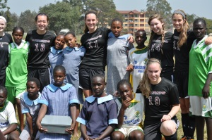 A few of our girls with girls from Kirigiti.