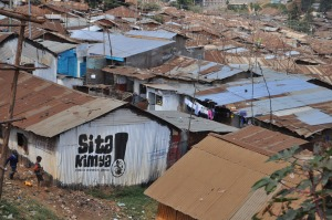 A snapshot of a small portion of Kibera