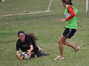 Rachel making a great save