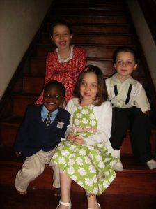 This was written Pre-Patrick, so I had to include a picture of all four of them! Such crazy days! (Not that they're less crazy now--just different).