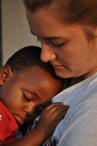This little one fell asleep in Molly's arms. When I think about how many children never know this sense of safety...