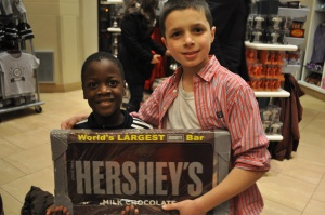 Just for fun--and in case you're feeling the need for some chocolate! (We didn't actually buy the chocolate bar--though the kids would have loved to!)