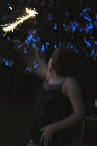 I took this shot the other night when the kids were doing sparklers.