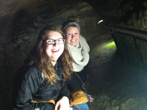 This was a mine dug under the Saint Andrew Castle. We all crawled down into it.