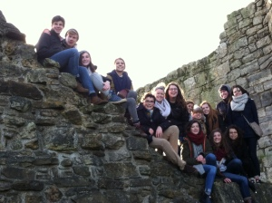 group at St Andrews ruins