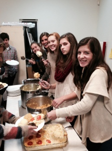 serving at host supper