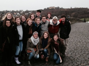 "The students on the ""new"" Stirling Bridge"