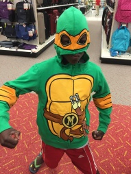 I thought this post could use a little lift. This was a fun, impromptu moment in Target when PJ saw this awesome Teenage Mutant Ninja Turtle jacket!