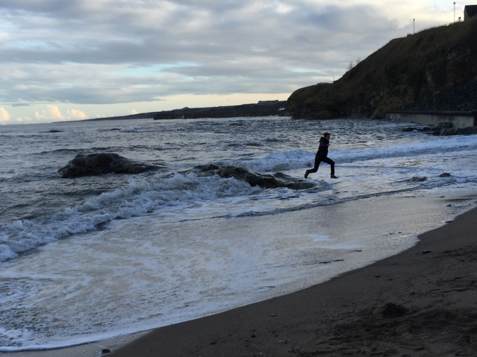 Max on beach